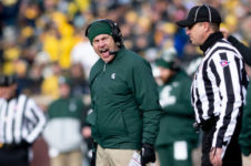 Why did Mark Dantonio resign from MSU?